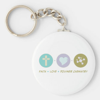 Faith Love Polymer Chemistry Keychain