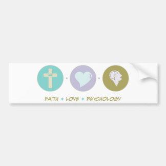 Faith Love Psychology Bumper Sticker