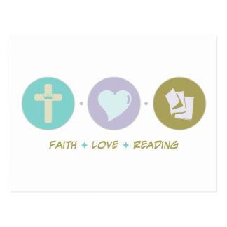 Faith Love Reading Postcard