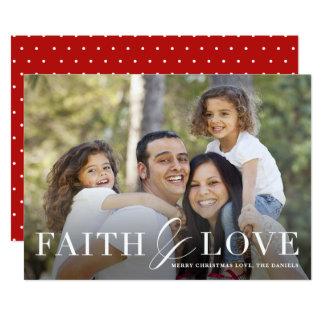 Faith & love religious photo Christmas card
