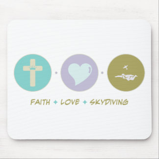 Faith Love Skydiving Mouse Pad