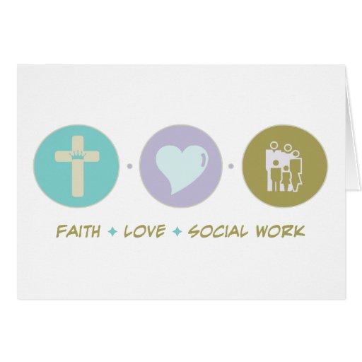 Faith Love Social Work Card