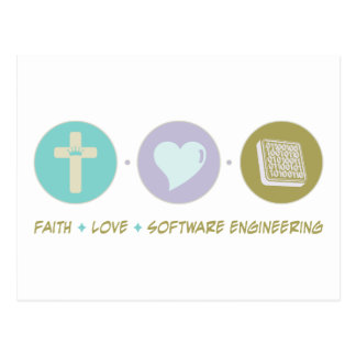 Faith Love Software Engineering Postcard