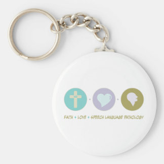 Faith Love Speech Language Pathology Keychain
