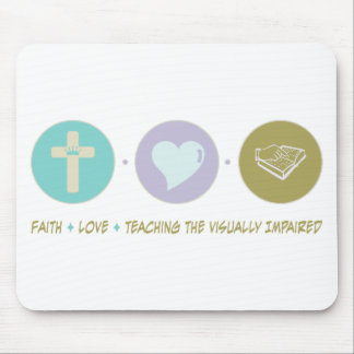 Faith Love Teaching the Visually Impaired Mouse Pad