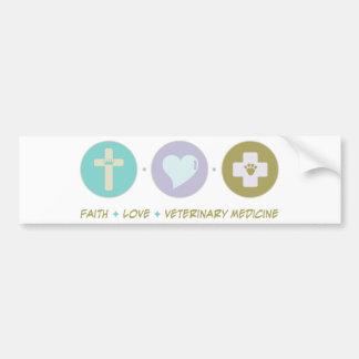 Faith Love Veterinary Medicine Car Bumper Sticker