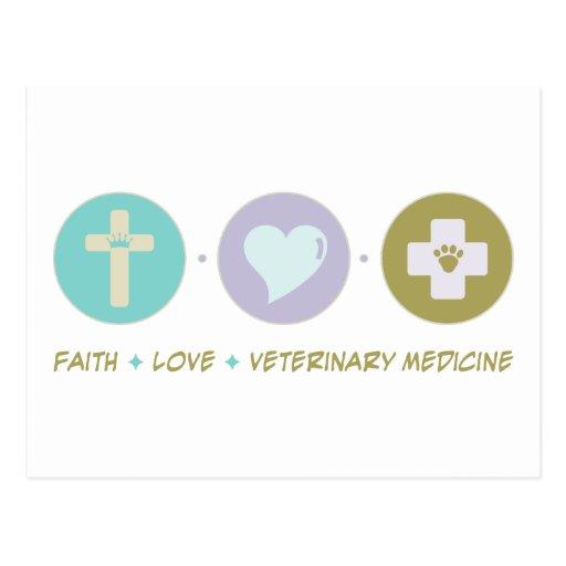 Faith Love Veterinary Medicine Postcard