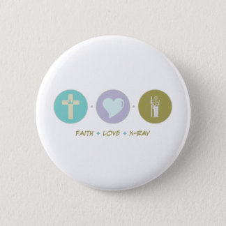 Faith Love X-Ray Pinback Button