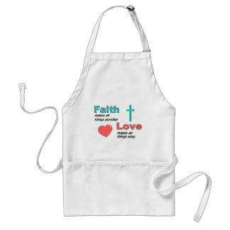 Faith makes all things possible adult apron