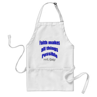 Faith makes all things possible christian gift adult apron