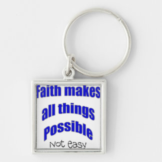 Faith makes all things possible christian gift keychain