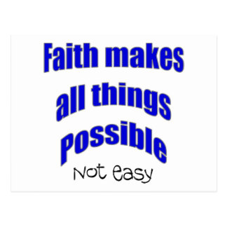 Faith makes all things possible christian gift postcard