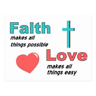 Faith makes all things possible post cards