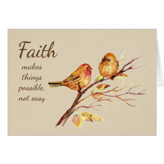Faith makes things Possible not easy Inspirational Card