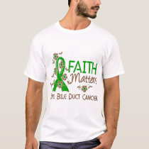 Faith Matters 3 Bile Duct Cancer T-Shirt