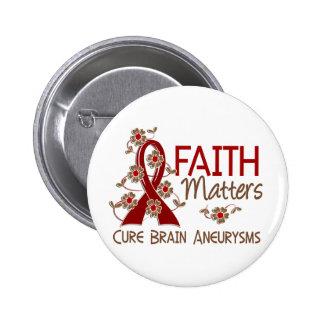 Faith Matters 3 Brain Aneurysm Pinback Button