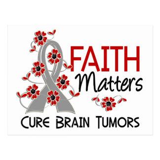 Faith Matters 3 Brain Tumors Postcard