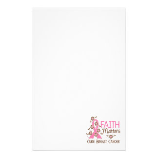Faith Matters 3 Breast Cancer Stationery Paper