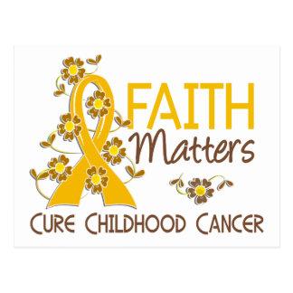 Faith Matters 3 Childhood Cancer Postcards