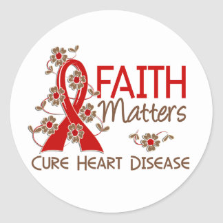 Faith Matters 3 Heart Disease Classic Round Sticker