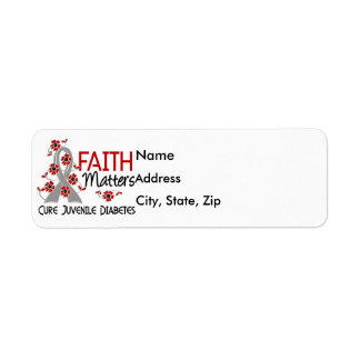 Faith Matters 3 Juvenile Diabetes Label