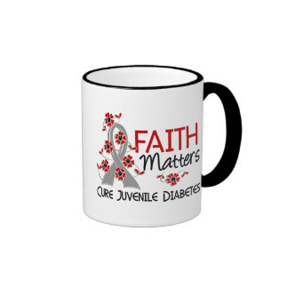 Faith Matters 3 Juvenile Diabetes Ringer Coffee Mug