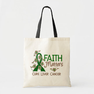 Faith Matters 3 Liver Cancer Tote Bag