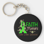 Faith Matters 3 Lyme Disease Key Chains