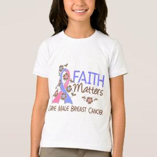 Faith Matters 3 Male Breast Cancer T-Shirt