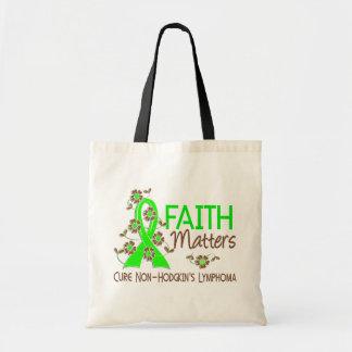 Faith Matters 3 Non-Hodgkin's Lymphoma Tote Bag