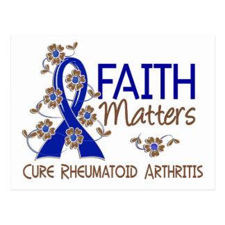 Faith Matters 3 Rheumatoid Arthritis Postcard