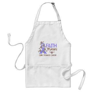 Faith Matters 3 Stomach Cancer Adult Apron