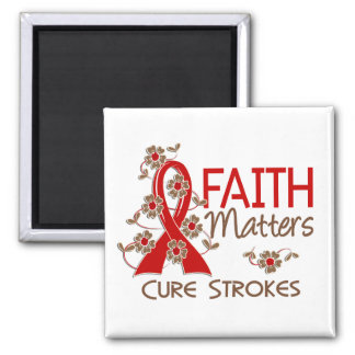 Faith Matters 3 Strokes 2 Inch Square Magnet