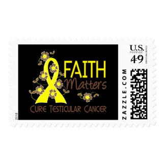 Faith Matters 3 Testicular Cancer Postage Stamp