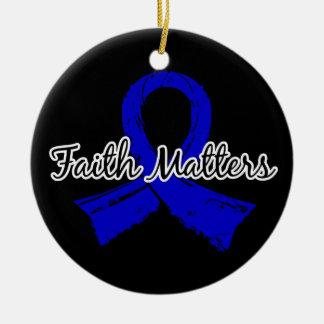 Faith Matters 5 Arthritis Double-Sided Ceramic Round Christmas Ornament