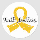 Faith Matters 5 Childhood Cancer Classic Round Sticker