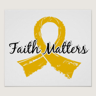 Faith Matters 5 Childhood Cancer Poster