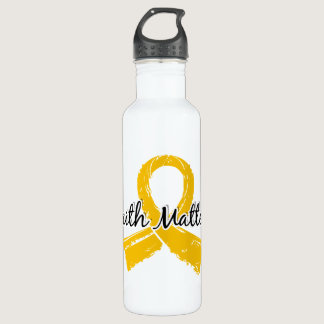 Faith Matters 5 Childhood Cancer Water Bottle