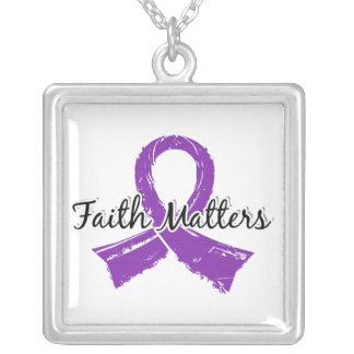 Faith Matters 5 Epilepsy Silver Plated Necklace