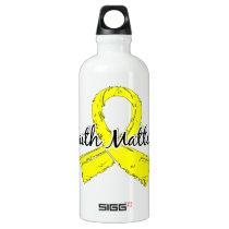 Faith Matters 5 Hydrocephalus Aluminum Water Bottle