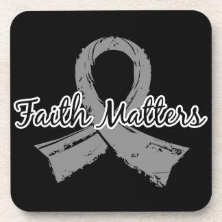 Faith Matters 5 Juvenile Diabetes Drink Coasters