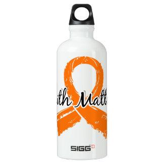Faith Matters 5 Leukemia Aluminum Water Bottle