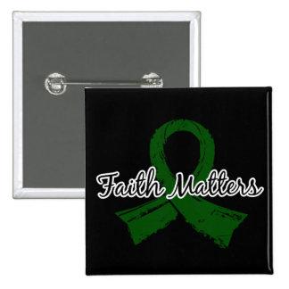 Faith Matters 5 Liver Disease 2 Inch Square Button