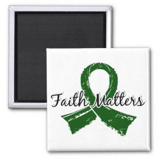 Faith Matters 5 Liver Disease 2 Inch Square Magnet