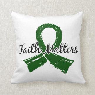 Faith Matters 5 Liver Disease Throw Pillows