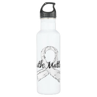 Faith Matters 5 Lung Cancer Stainless Steel Water Bottle