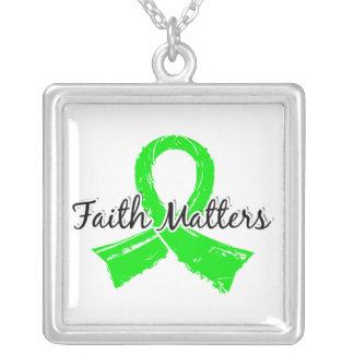 Faith Matters 5 Lyme Disease Square Pendant Necklace