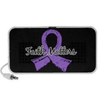 Faith Matters 5 Lymphoma (Hodgkin's) Laptop Speaker