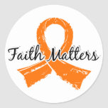 Faith Matters 5 Multiple Sclerosis Classic Round Sticker