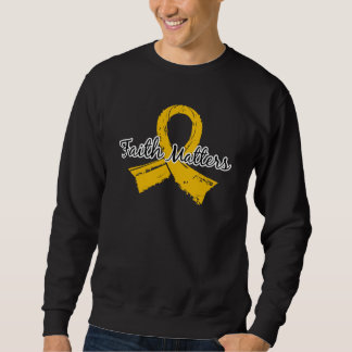 Faith Matters 5 Neuroblastoma Pullover Sweatshirt